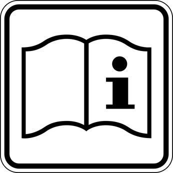 Betriebanweisung Bedienungsanleitung Schild Zeichen Symbol