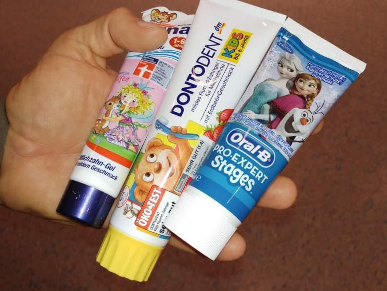 Kinder Zahnpasta Test