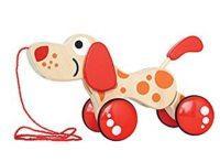 Spielzeughund zum ziehen