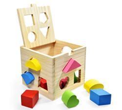Steckspielzeug Holzwuerfel