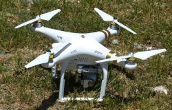 Eine startbereite Drohne