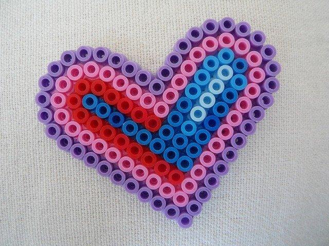 Bügelperlen Vorlage Herz